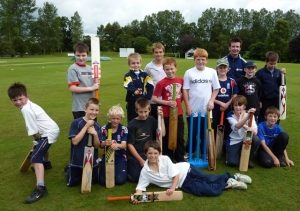 Bats at the ready at the 2009 Cricket Scotland Summer Camp
